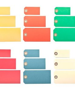 Coloured manila parcel tags